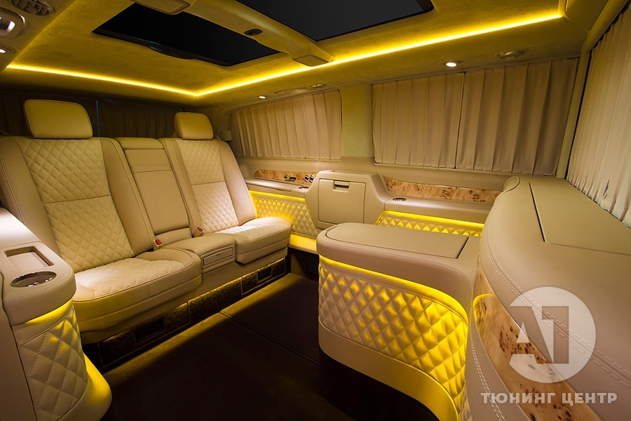 Тюнинг салона Mercedes Benz Viano VIP. Фото 11, A1 Тюнинг Центр