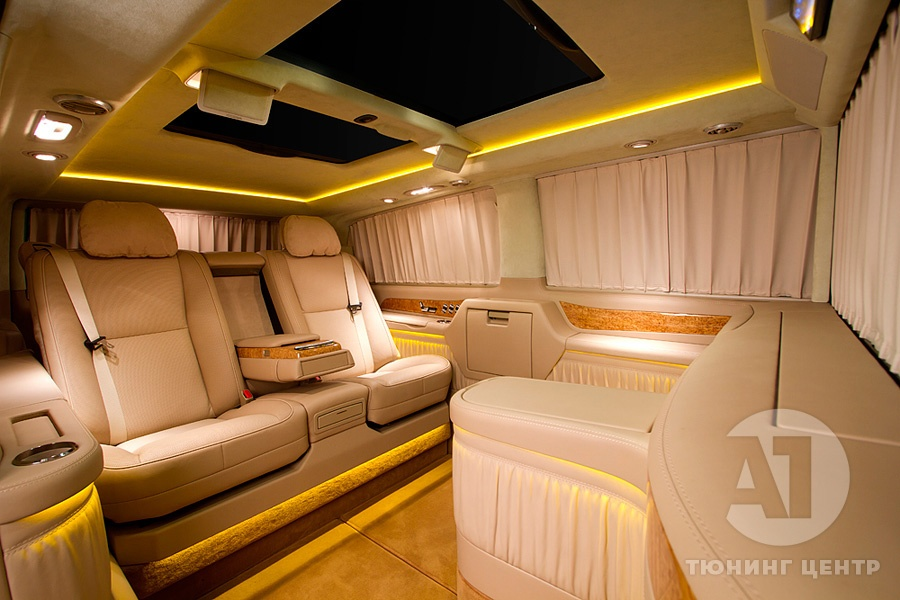 Тюнинг салона Mercedes Benz Viano VIP. Фото 15, A1 Тюнинг Центр