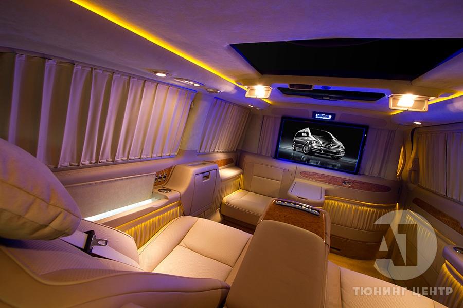 Тюнинг салона Mercedes Benz Viano VIP. Фото 16, A1 Тюнинг Центр