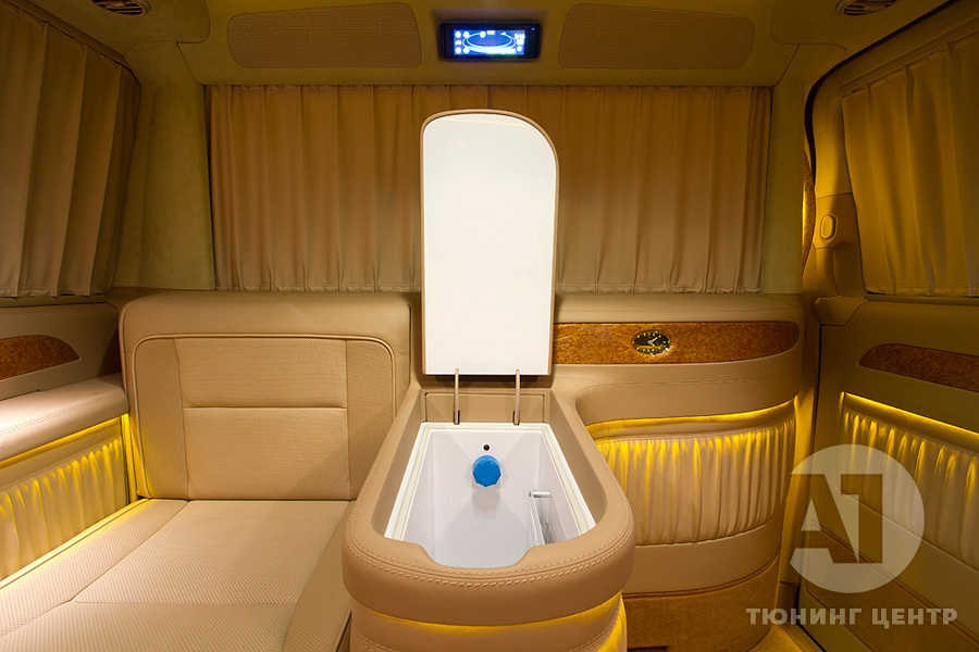 Тюнинг салона Mercedes Benz Viano VIP. Фото 17, A1 Тюнинг Центр