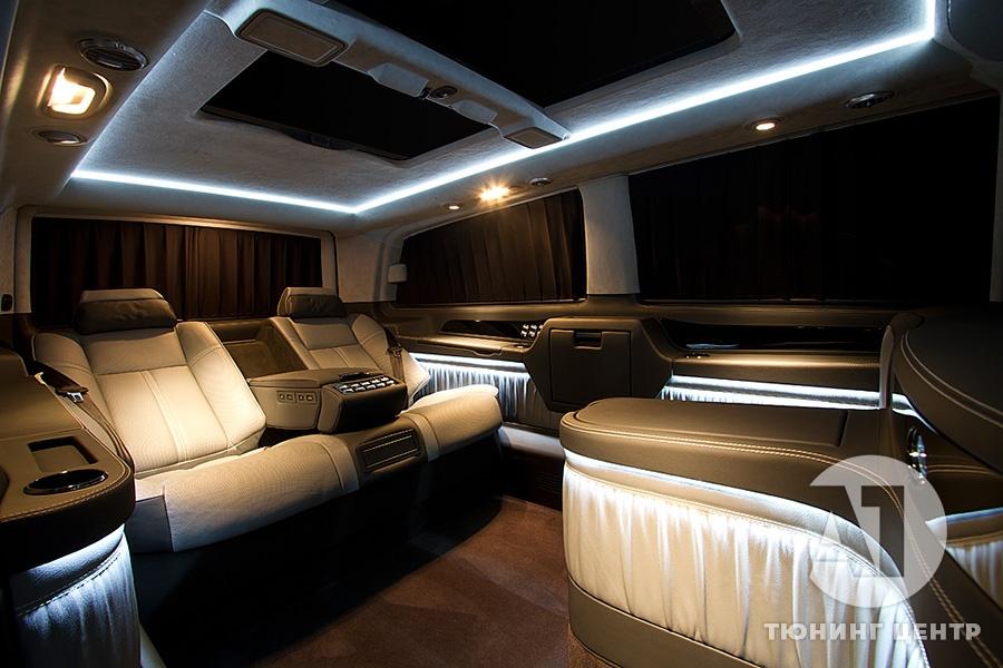 Тюнинг салона Mercedes Benz Viano VIP. Фото 18, A1 Тюнинг Центр