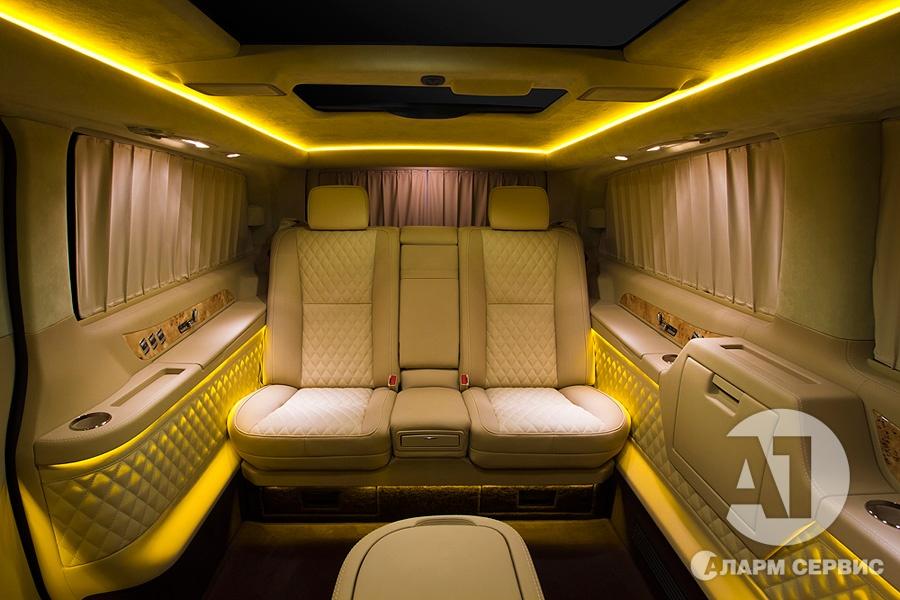 Тюнинг салона Mercedes Benz Viano VIP. Фото 19, A1 Тюнинг Центр