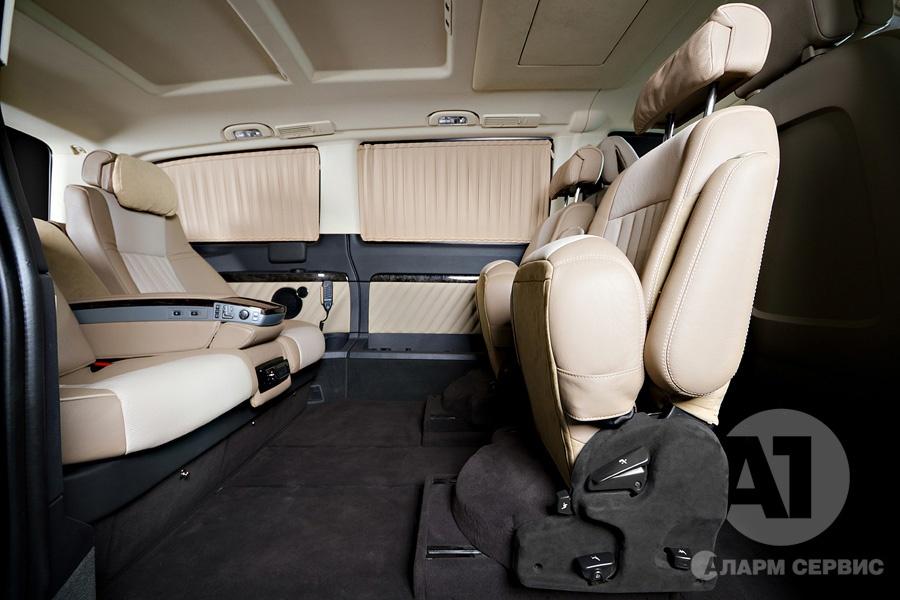 Фото кожаного салона Mercedes Benz Viano Buisness. А1 Авто