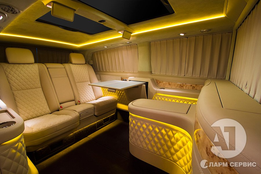 Тюнинг салона Mercedes Benz Viano VIP. Фото 14, А1 Авто