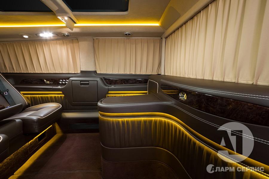 Тюнинг салона Mercedes Benz Viano VIP. Фото 21, А1 Авто