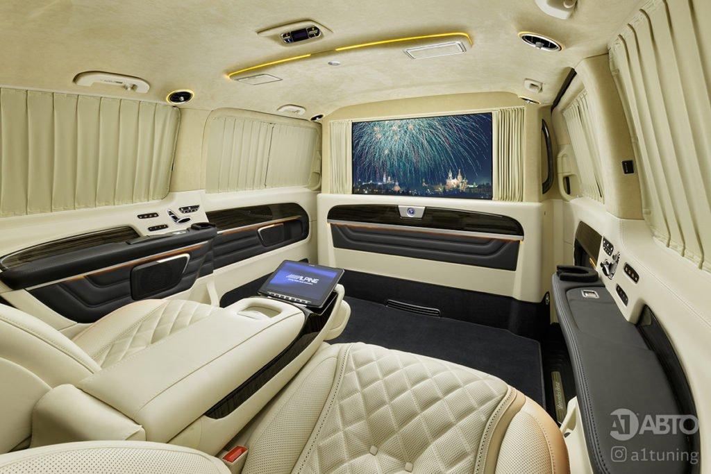 Тюнинг салона Cалон Mercedes Benz V-Class Buisness Jet. Фото 4, А1 Авто