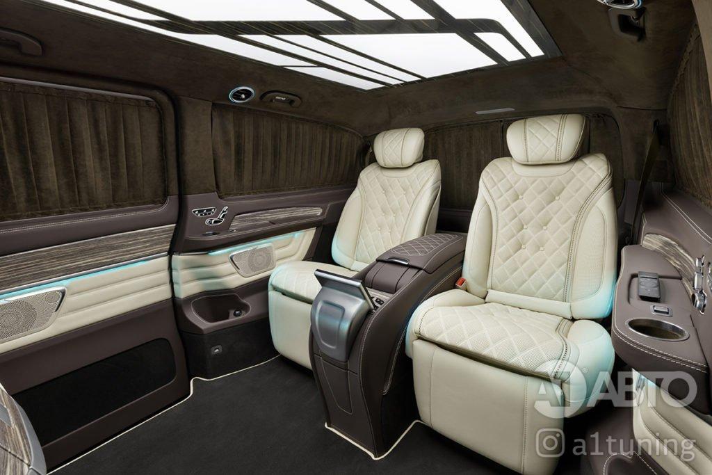 Фото кожаного салона Mercedes Benz V-VIP. A1 Auto