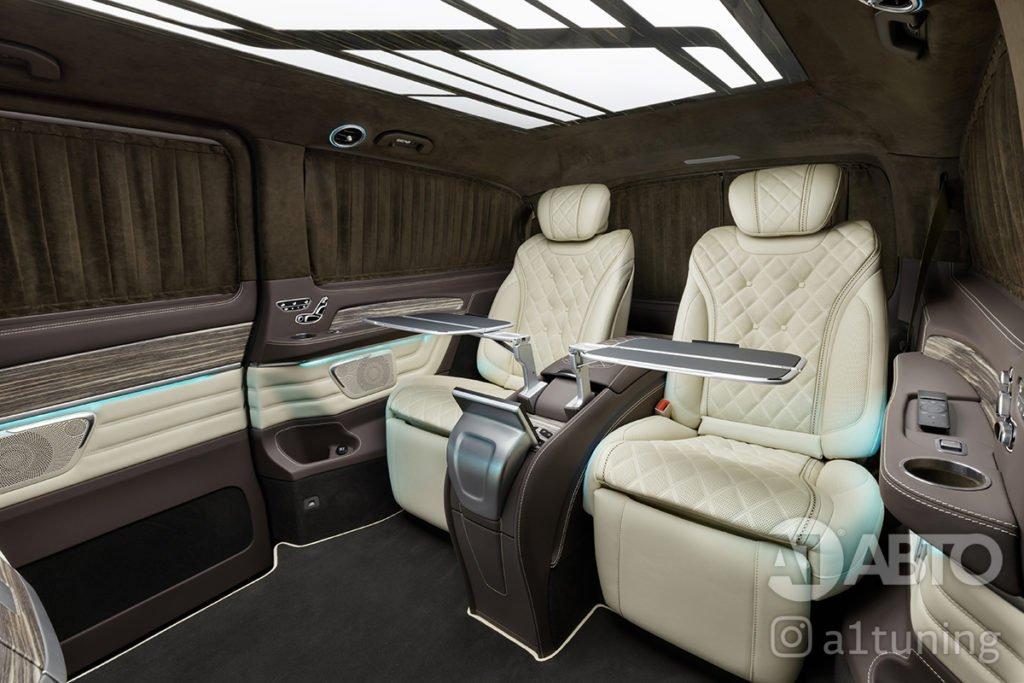 Фото кожаного салона Mercedes Benz V-VIP. А1 Авто