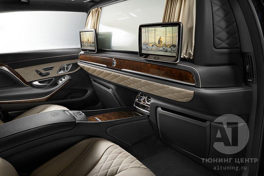 Межсалонная перегородка в Mercedes-Benz Maybach
