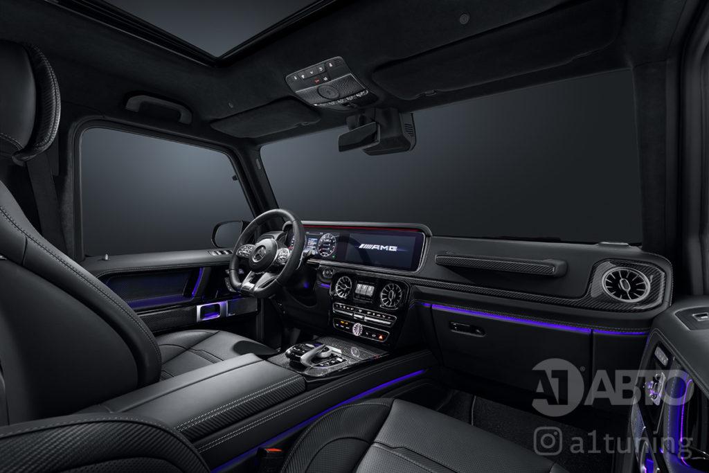 Черный салон Mercedes Benz G-Class. А1 Авто.