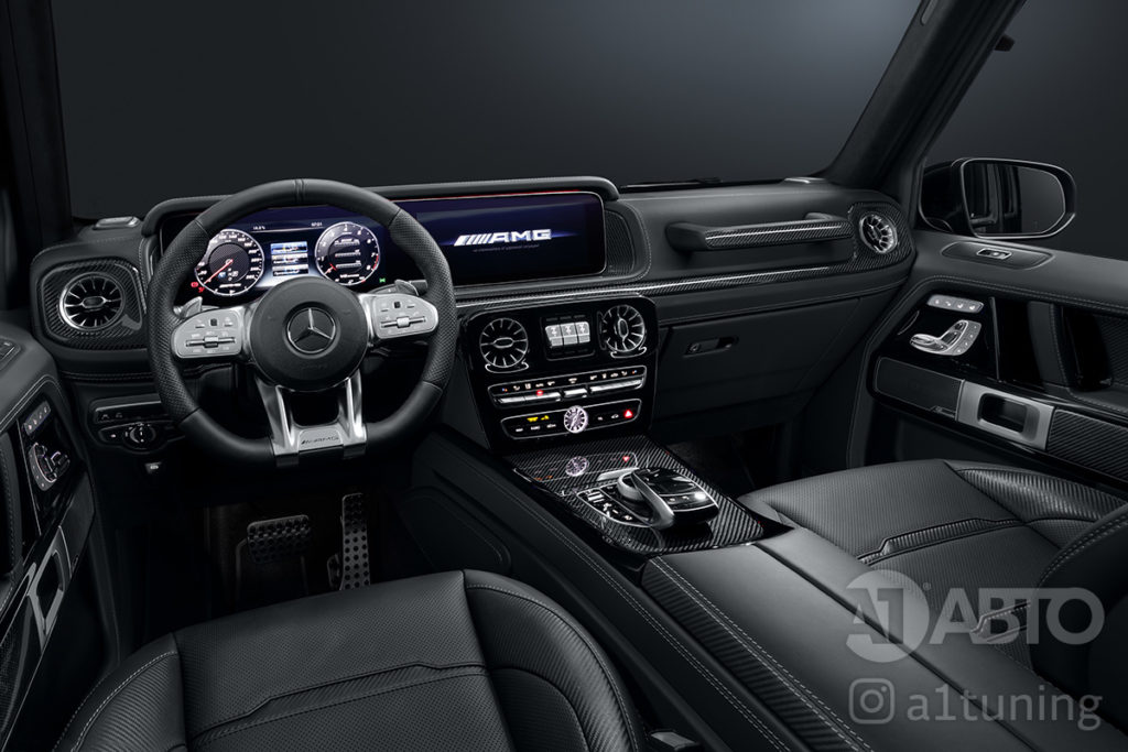 Черный салон Mercedes Benz G-Class. A1 Auto
