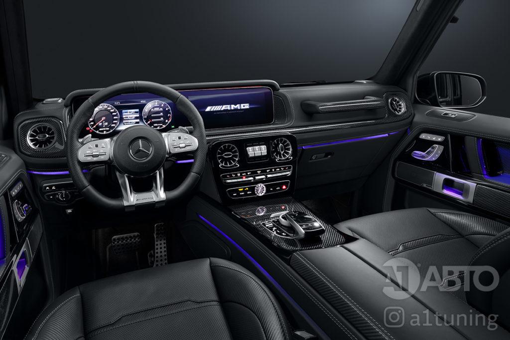 Черный салон Mercedes Benz G-Class. Фото 1 А1 Авто.