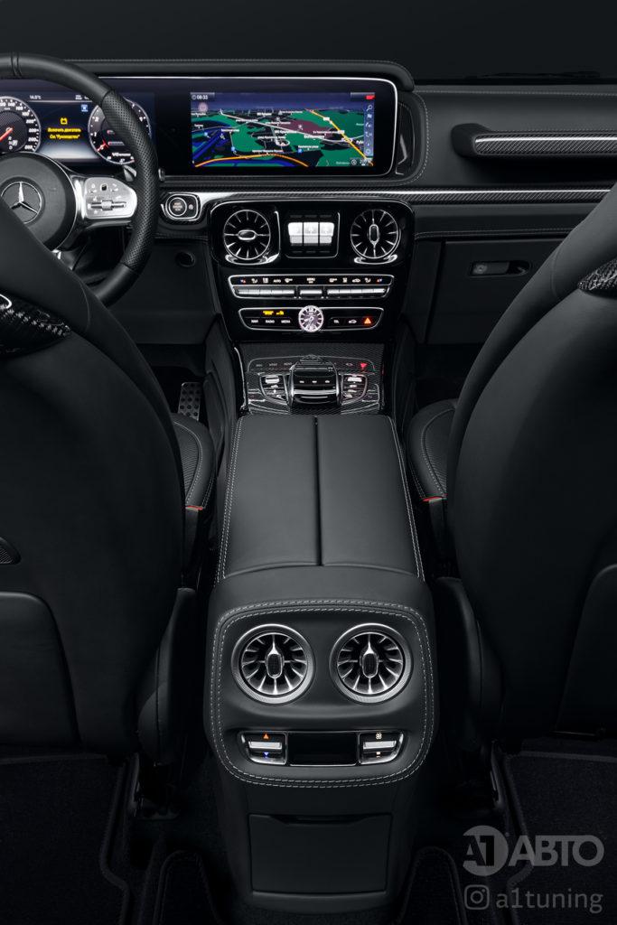Черный салон Mercedes Benz G-Class. Фото 4 А1 Авто.