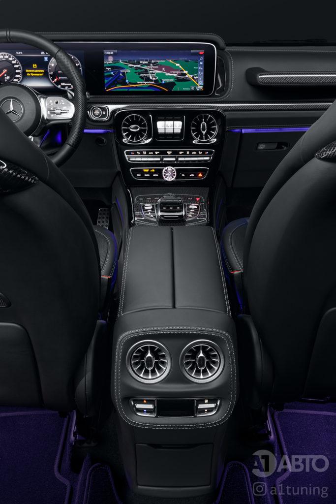 Черный салон Mercedes Benz G-Class. Фото 5 А1 Авто.