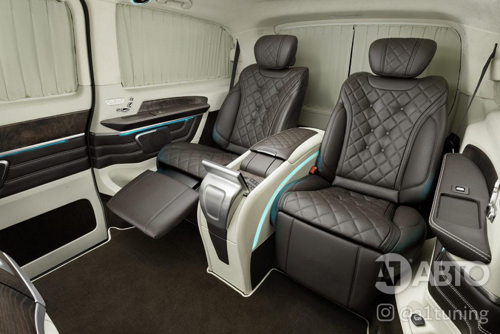 Фото кожаного салона Mercedes Benz V-Class VIP. A1 Auto