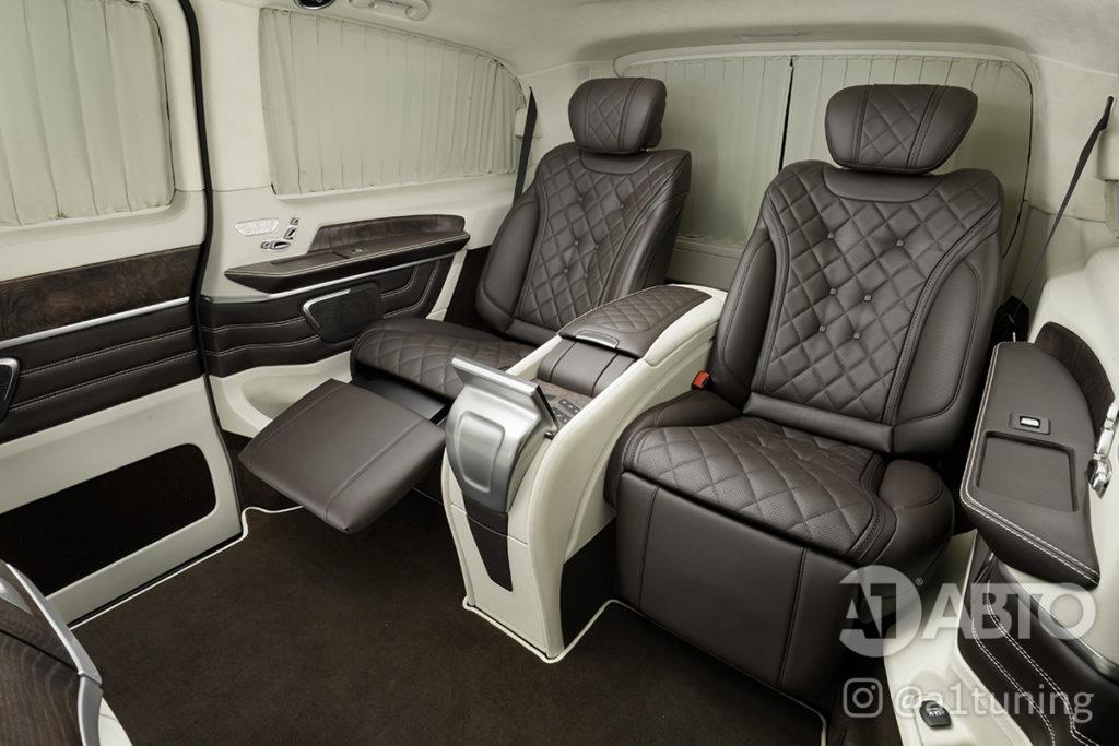 Фото кожаного салона Mercedes Benz V-Class VIP. А1 Авто