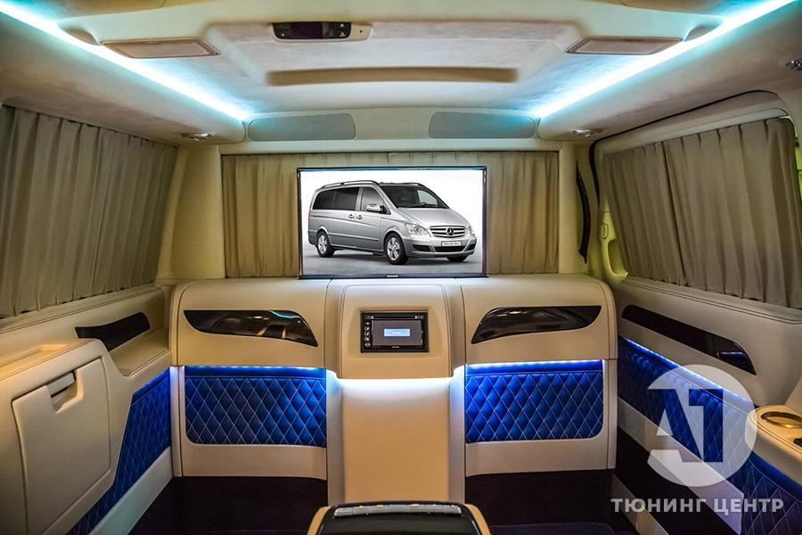 Тюнинг салона Mercedes Benz Viano VIP. Фото 11, А1 Авто