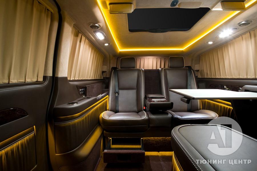 Тюнинг салона Mercedes Benz Viano VIP. Фото 9, А1 Авто