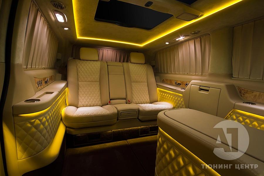 Тюнинг салона Mercedes Benz Viano VIP. Фото 8, A1 Auto