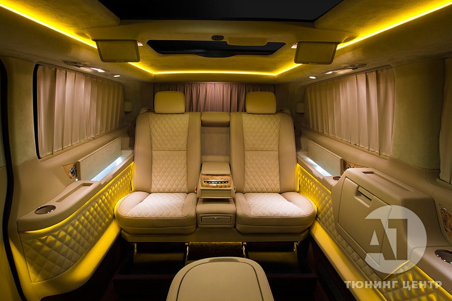 Тюнинг салона Mercedes Benz Viano VIP. Фото 10, А1 Авто
