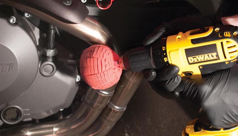 Полировка деталей мотоцикла. Фото 1