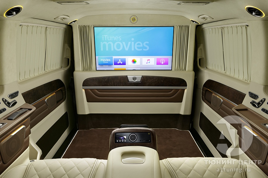 Кожаный салон. Mercedes Benz V-Class. Фото 10. А1 Авто