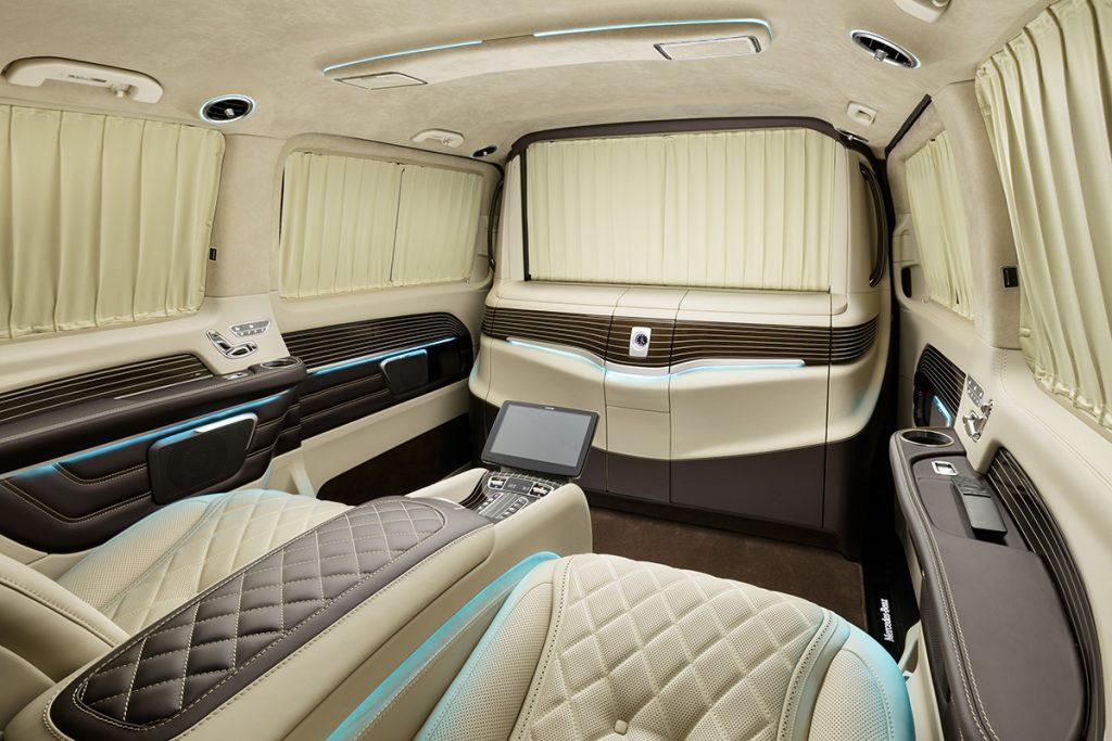 Фото тюнинга салона Mercedes-Benz V-class