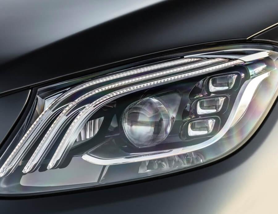 Замена фар на Mercedes S-class W222